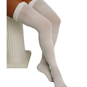 ITA-MED Graduated Compression Thigh Highs Anti-Embolism Compression 18 mmHg, X Large, White, 1 pr
