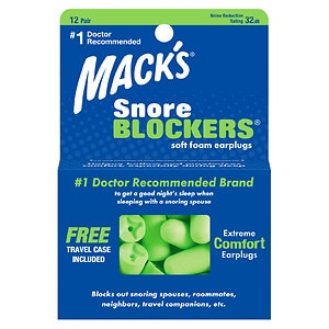 Mack's Snore Blockers Soft Foam Earplugs