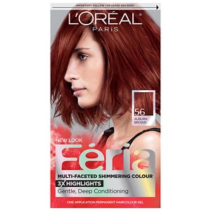 L'Oreal Feria Multi-Faceted Shimmering Colour 3x Highlights, Permanent, Brilliant Bordeaux 56