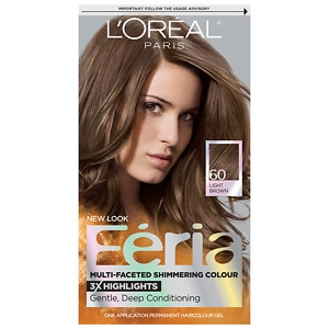 L'Oreal Paris Feria Permanent Haircolor, Light Brown 60, 1 ea
