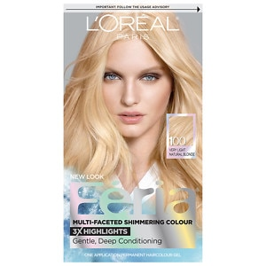 L'Oreal Feria Multi-Faceted Shimmering Colour 3x Highlights, Permanent, Very Light Natural Blonde 100