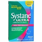 Systane Ultra High Performance Lubricant Eye Drops, Vials- 24 ea