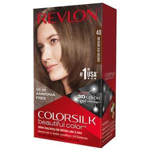 Revlon Colorsilk Beautiful Color, Medium Ash Brown 40