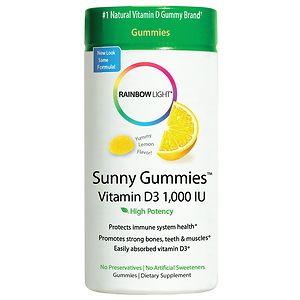 Rainbow Light Vitamin D3 1000 IU Sunny Gummies, Sour Lemon- 100 ea