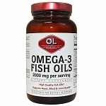 Olympian Labs Omega-3 Fish Oils 2000mg- 120 softgels