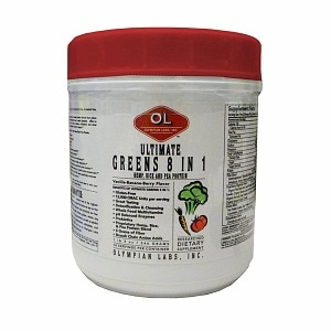 Olympian Labs Ultimate Greens Protein 8 in 1 w/ Hemp Protein, 19 oz