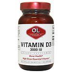 Olympian Labs Vitamin D3 3000 IU- 100 ea