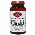 Olympian Labs Enteric Coated Omega-3 Fish Oils- 120 softgels