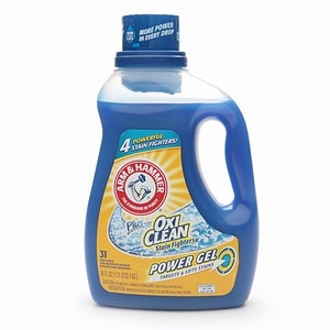 Arm & Hammer Plus the Power of OxiClean Stain Fighters, Gel Laundry Detergent, 31 Loads