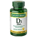 Nature's Bounty Vitamin D3-2000 IU, Softgels