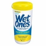 Wet Ones Antibacterial Hand Wipes, Citrus- 40 ea