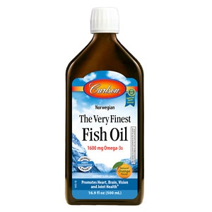 Carlson The Very Finest Fish Oil Omega-3's DHA & EPA, Orange- 16.9 oz