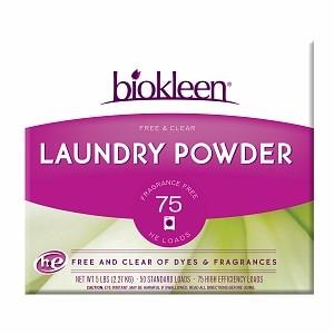 biokleen Free & Clear Laundry Powder,, Unscented- 80 oz