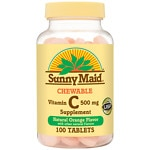 Sunny Maid Chewable Vitamin C, 500 mg Tablets- 100 ea