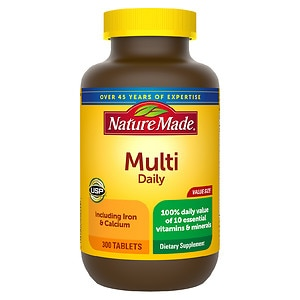Nature Made Multivitamin with Iron, Tablets, 300 ea