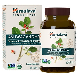Himalaya Herbal Healthcare Ashwagandha, Anti-Stress & Energy, Caplets- 60 ea
