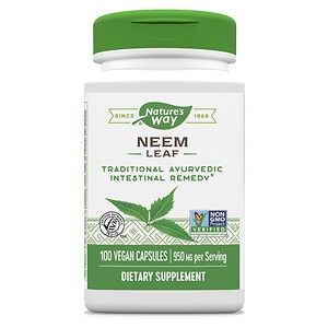 Nature's Way Neem Leaves 475mg, Capsules- 100 ea