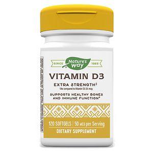 Nature's Way Vitamin D3 2000 IU, Softgel- 120 ea