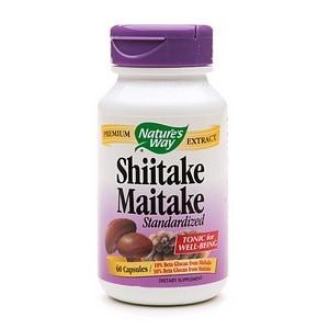 Nature's Way Shiitake Maitake Standardized, Capsules- 60 ea