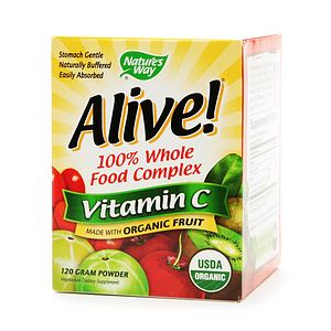 Nature's Way Alive! 100% Whole Food Complex, Vitamin C 500mg Powder- 4.23 oz