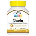 21st Century Flush Free Niacin 500mg- 110 capsules