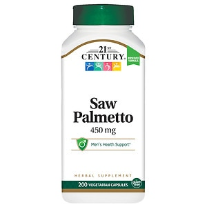 21st Century Saw Palmetto Extract- 200 vegetarian capsules