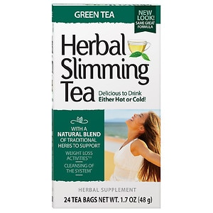 21st Century Herbal Slimming Tea, Green Tea, 24 pk