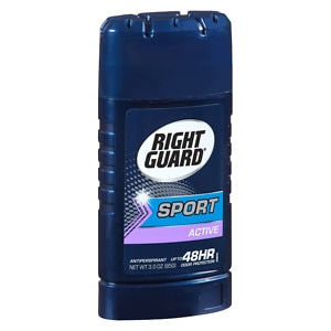 Right Guard Sport 48-HR Protection, Antiperspirant & Deodorant Invisible Solid,, Active- 2.6 oz