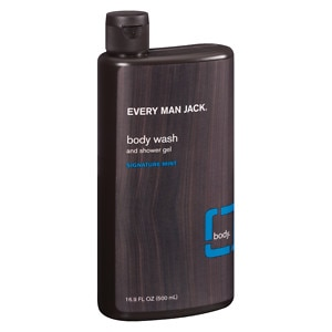 Every Man Jack Body Wash and Shower Gel, Signature Mint- 16.9 oz