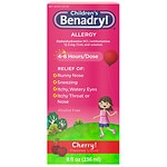 Children's Benadryl Allergy, Liquid, Cherry- 8 fl oz