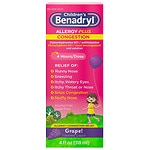 Children's Benadryl D Allergy & Sinus, Liquid, Grape