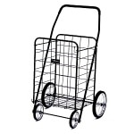 Narita Trading Company Jumbo Shopping Cart, Black- 1 ea
