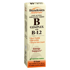 Sundown Naturals Sublingual B Complex with B-12- 2 fl oz