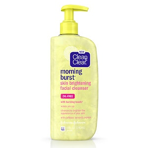 Clean & Clear Morning Burst Skin Brightening Oil-Free Facial Cleanser- 8 fl oz