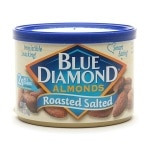 Blue Diamond Almonds, Can, Roasted Salted