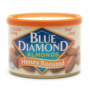 Blue Diamond Almonds, Can, Honey Roasted- 6 oz
