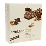 thinkThin Crunch, The Lower Sugar Nut Bar, Chocolate Dipped Mixed Nuts