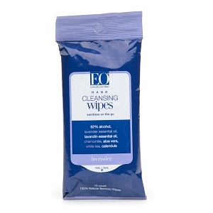 EO Cleansing Hand Wipes, Lavender- 10 ea