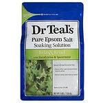 Dr. Teal's Epsom Salt Soaking Solution, Relax & Relief, Eucalyptus, Spearmint- 3 lb