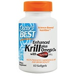 Doctor's Best Real Krill Enhanced with DHA & EPA, Softgel Capsules