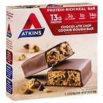 Atkins Advantage Meal Bars, 5 pk, Chocolate Chip Cookie Dough