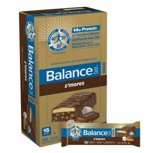 Balance Bar GOLD Nutrition Bar with Three Indulgent Layers, S'Mores, 15 ea