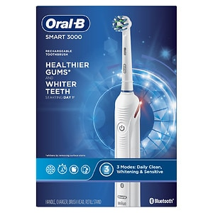 Oral-B PRO 3000 3D White Electric Rechargeable Toothbrush with Bluetooth SMART- 1 ea