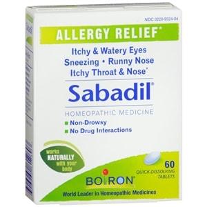Boiron Sabadil, Allergy Relief- 60 ea