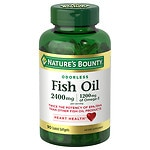 Nature's Bounty Odorless Fish Oil, Double Strength, Softgels- 90 ea