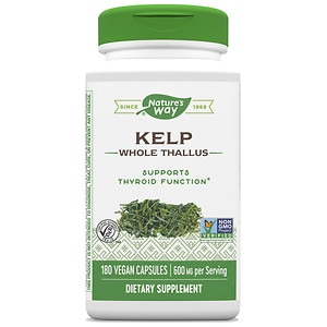 Nature's Way Kelp 660mg with Iodine, Capsules- 180 ea