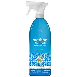 method ANTIBAC, Antibacterial Bathroom Cleaner, Spearmint- 28 fl oz