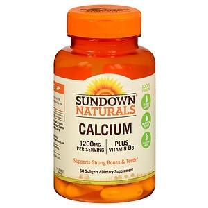 Sundown Naturals Liquid-Filled Calcium, Softgels
