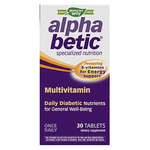 Alpha Betic Multivitamin Plus Extended Energy Tablets- 30 tablets