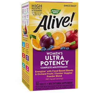 Nature's Way Alive! Once Daily Women's Ultra Potency Multivitamin, Tablets- 60 ea